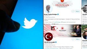 Twitter Erdoğan ve 3 isme devlet görevlisi etiketi verdi